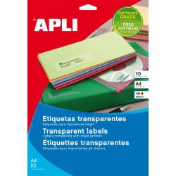 Etiquetas Apli poliester para láser transparentes