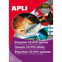 Etiquetas Apli CD/DVD 114 mm