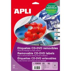 Etiquetas Apli CD/DVD 117 mm inkjet