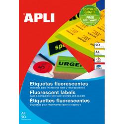 Etiquetas Apli colores fluorescentes