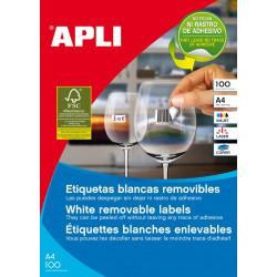 Etiquetas Apli con adhesivo removible