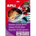 Etiquetas Apli CD/DVD 117 mm inkjet láser opaco
