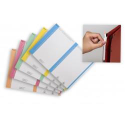 Etiquetas carpetas colgantes visor lateral