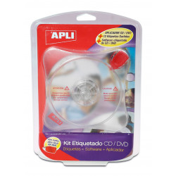 Kit de etiquetado Apli para CD/DVD