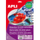 Etiquetas Apli removibles CD/DVD 117mm