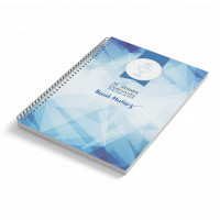 Cuaderno A6 tapa blanda AZUL