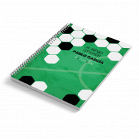 Cuaderno A6 tapa blanda FUTBOL