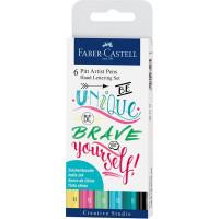 Rotulador de fibra Pitt Hand Lettering 6 colores