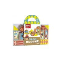 Puzzle educativo bloques de madera 16 piezas circo