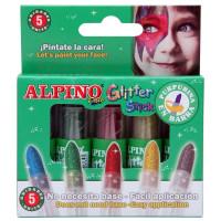 Maquillaje glitter stick 5 colores