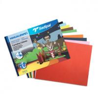 Block Manualidades 10 hojas cartulina colores