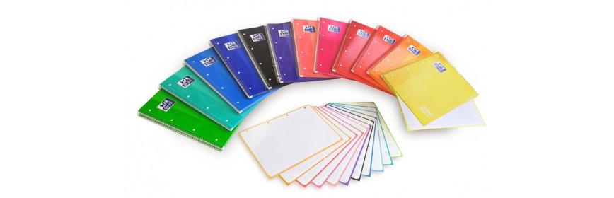 Cuadernos y blocs espiral